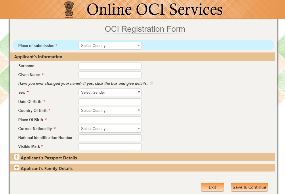 OCI card replacement